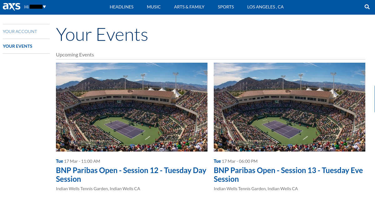 BNP Pariabas Open Ticket Delivery