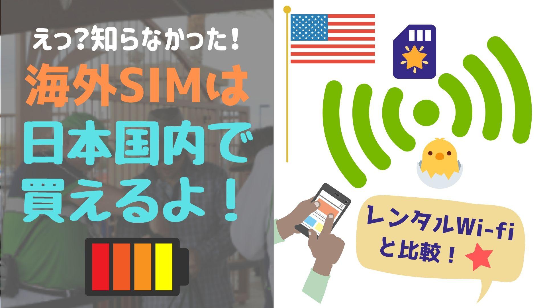 海外レンタルWi-Fi?SIMフリー?どっちがいい